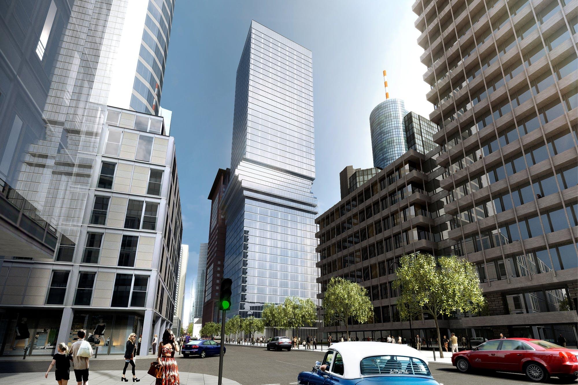 Sådan kommer tårnet i Frankfurt til at se ud