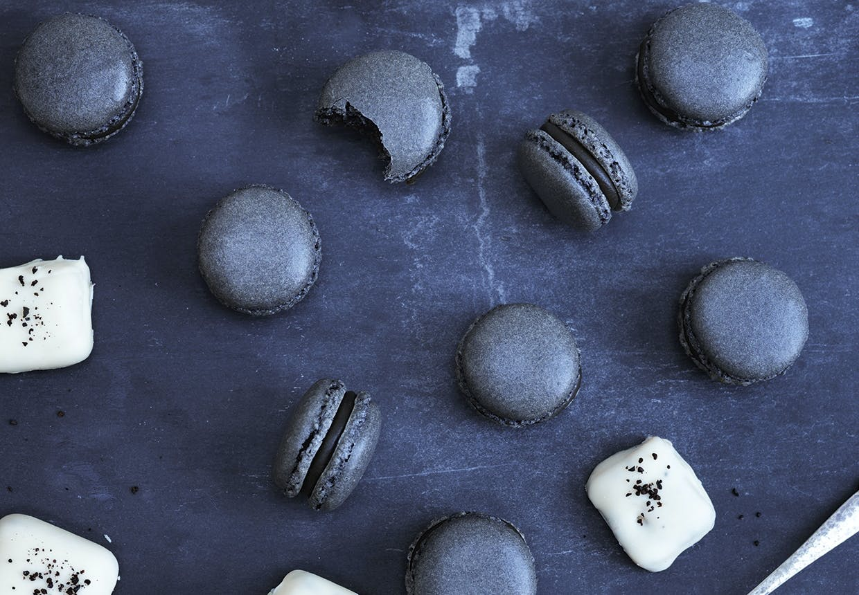 macaron opskrift lakrids hvid chokolade