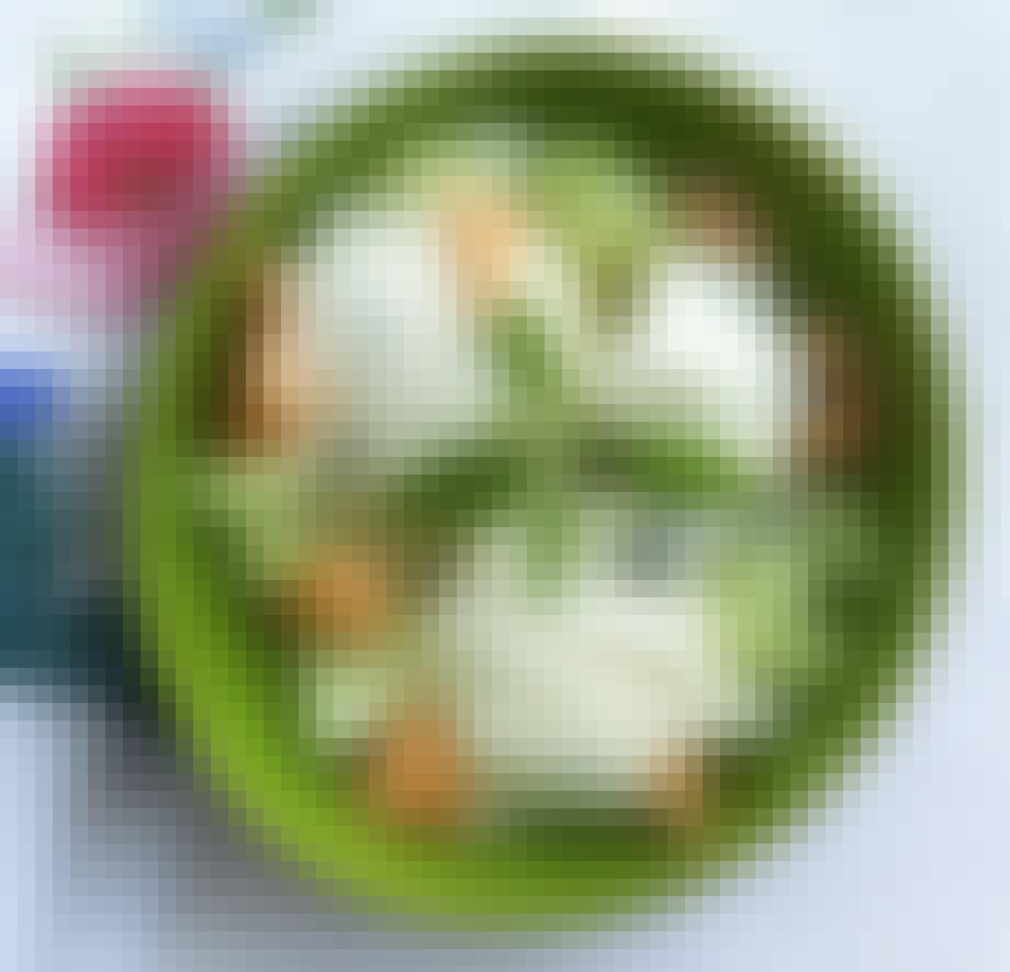 Lyst til grønt basilikum