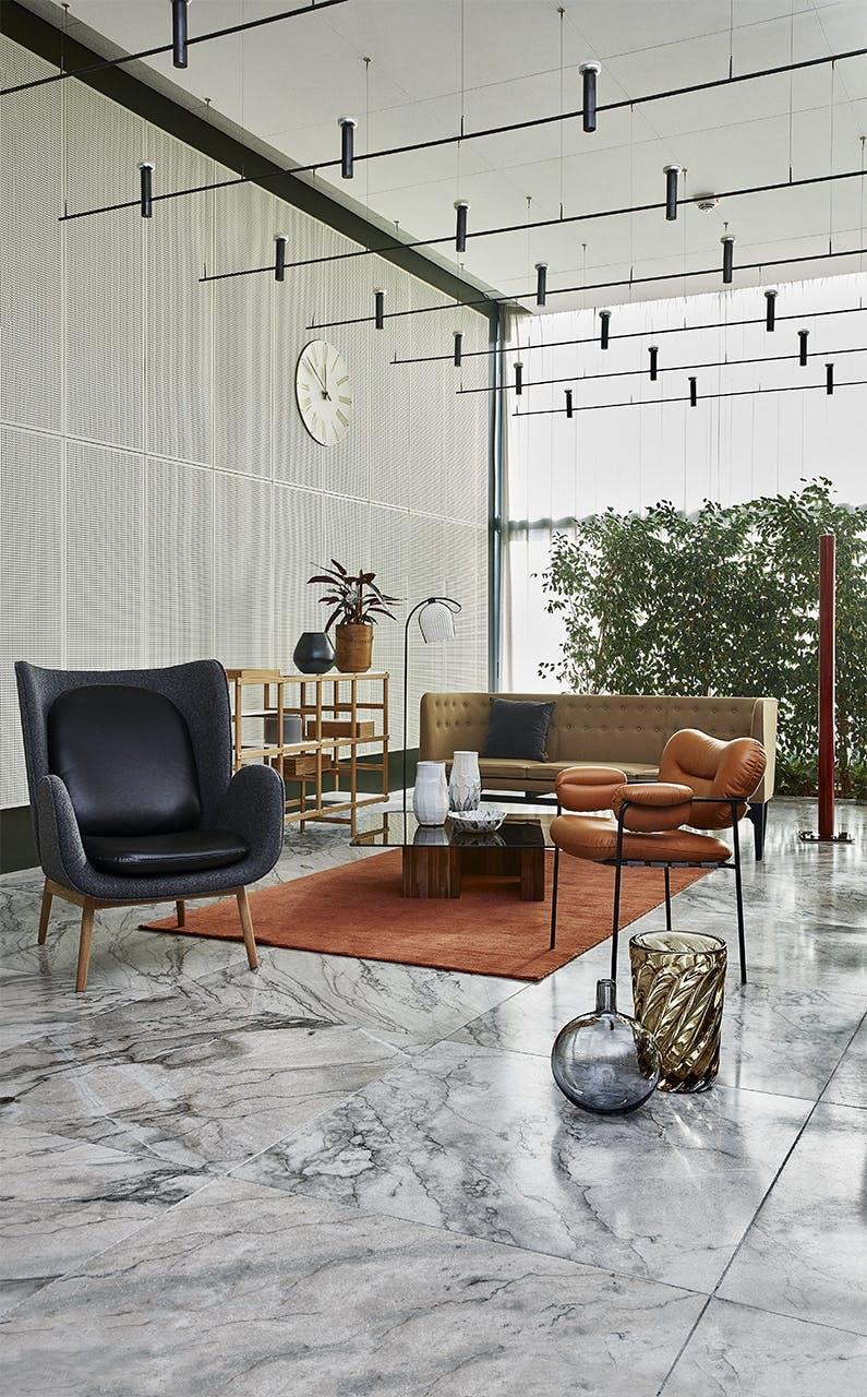 arne jacobsen indretning design stol sofa tæppe bord