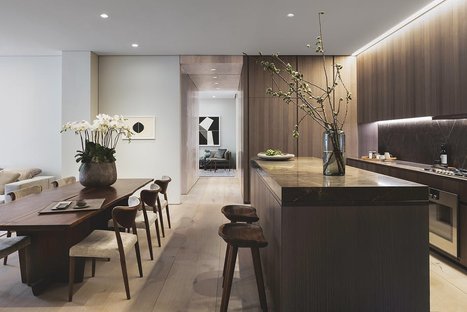 boliger lejlighed new york spisebord køkken træ
