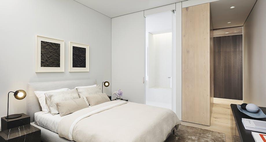 boliger lejlighed new york soveværelse pude hvid
