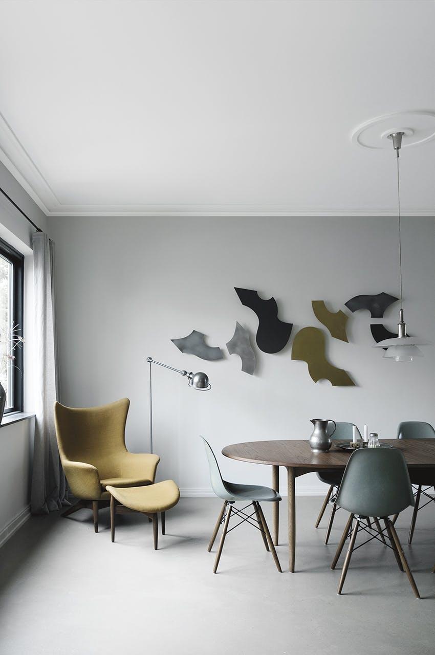 funkis hus frederiksberg indretning stol spisebord ph lampe