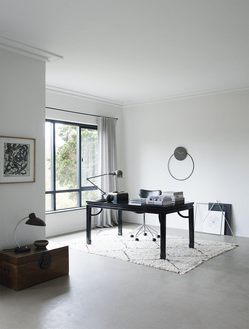 funkis hus frederiksberg indretning kontor hjemmekontor