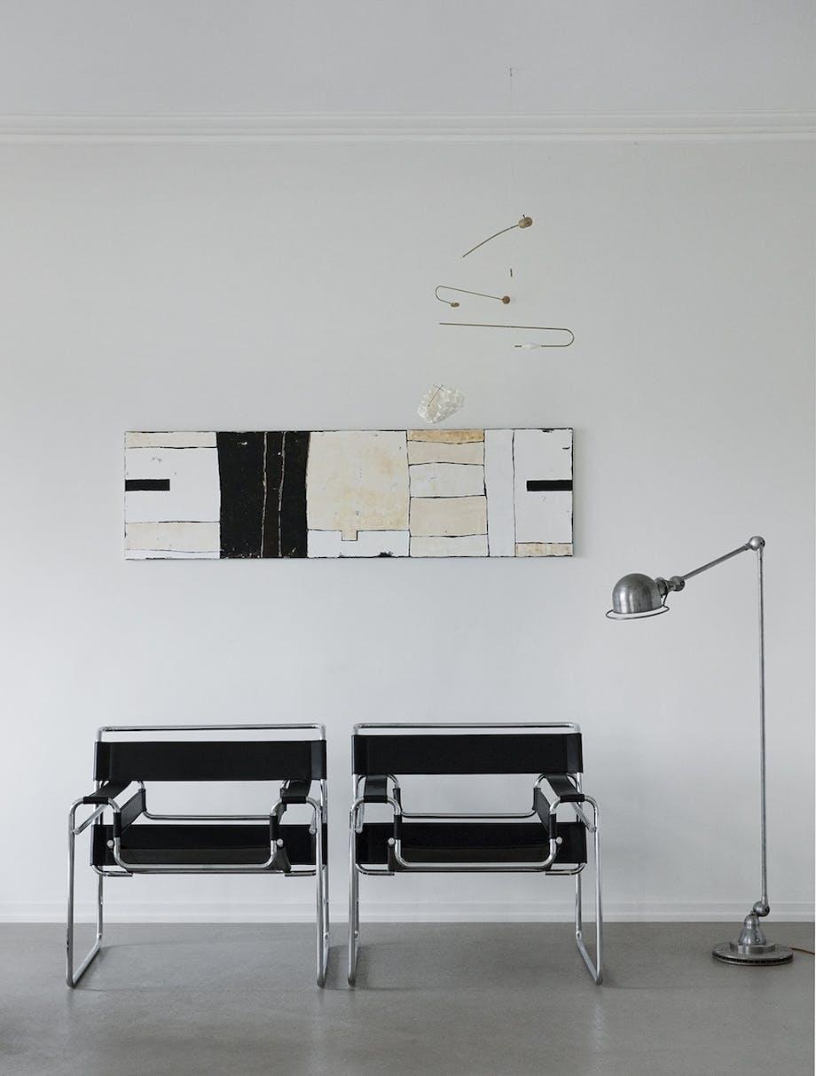 funkis hus frederiksberg indretning stol kunst lampe