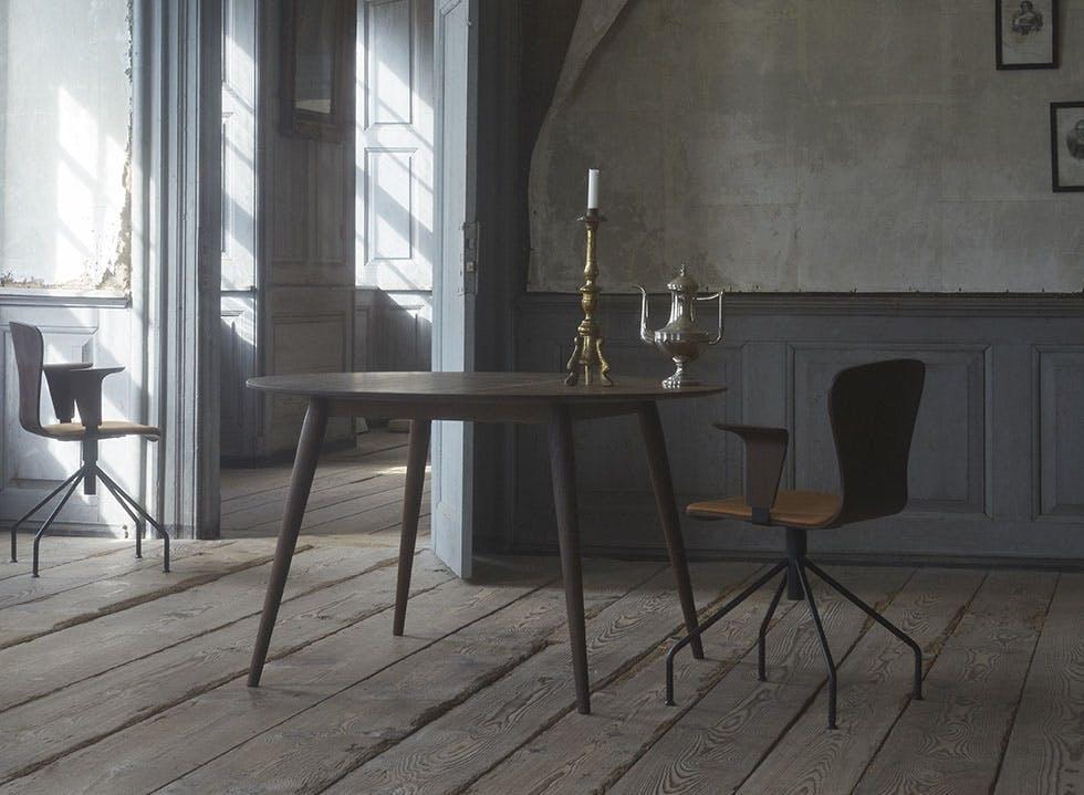 Spisebord med runde former