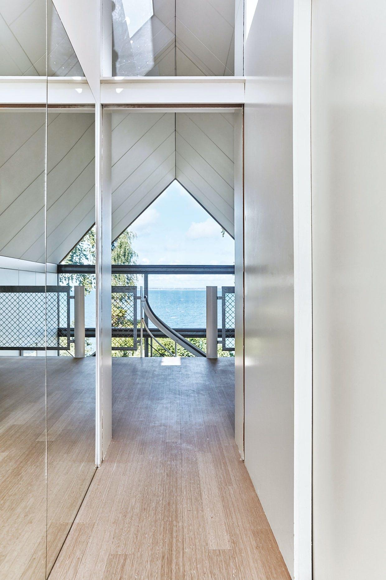 gang udsigt glas modernisme