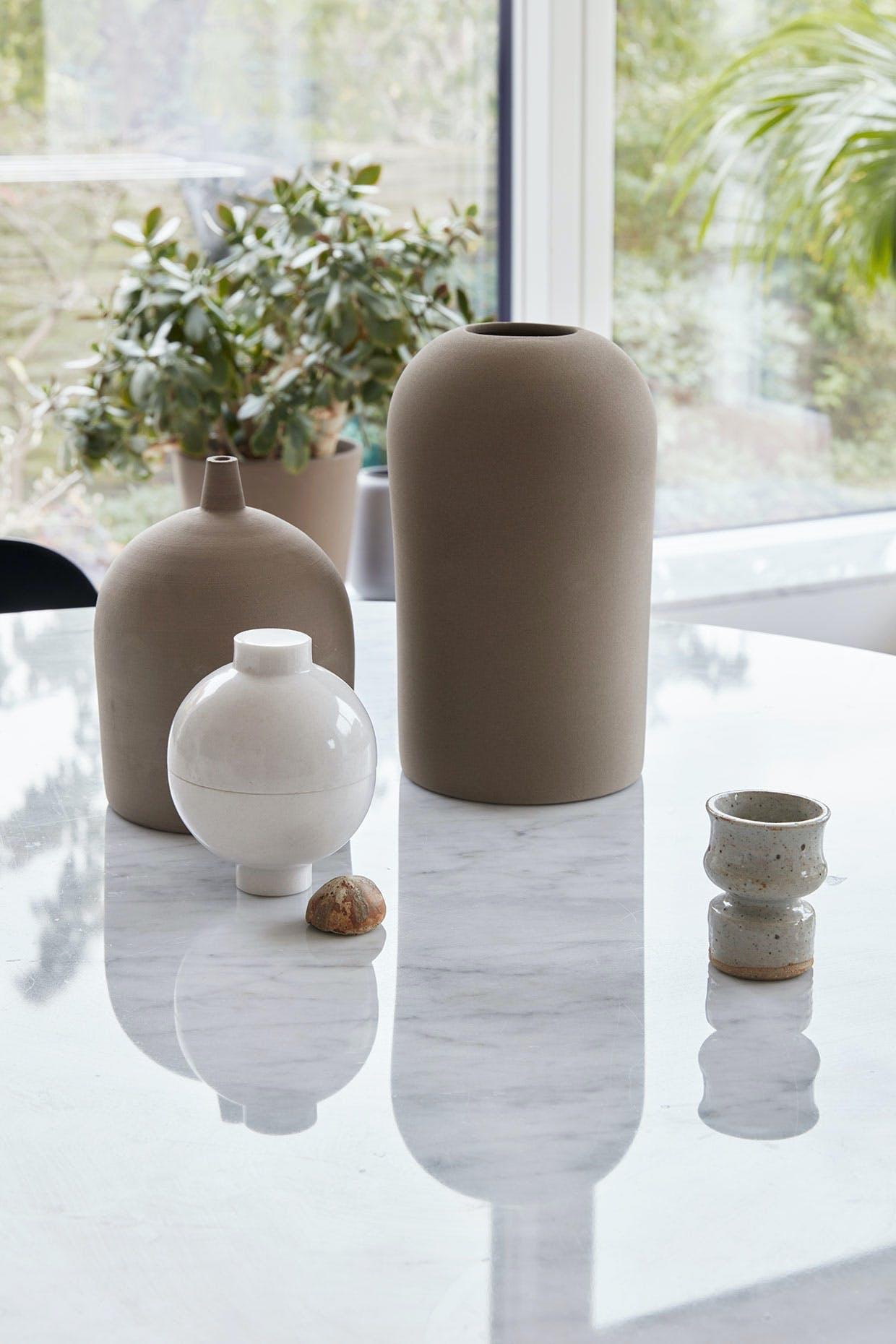 kristina dam terracotta vase dome vases wooden sphere