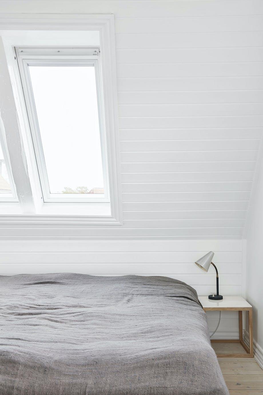 soveværelse sengetæppe sengelampe kristina dam