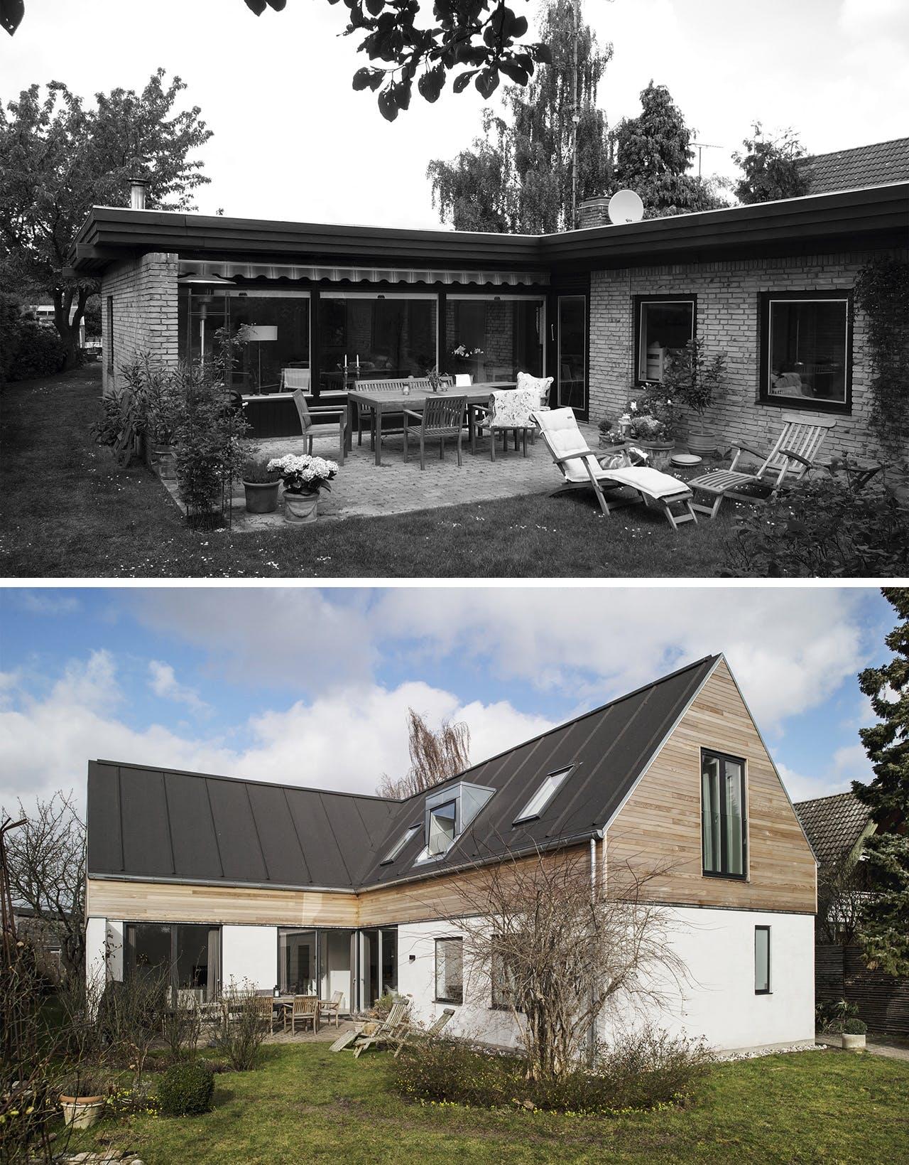 parcelhus renovering tips ombygning før og efter billede
