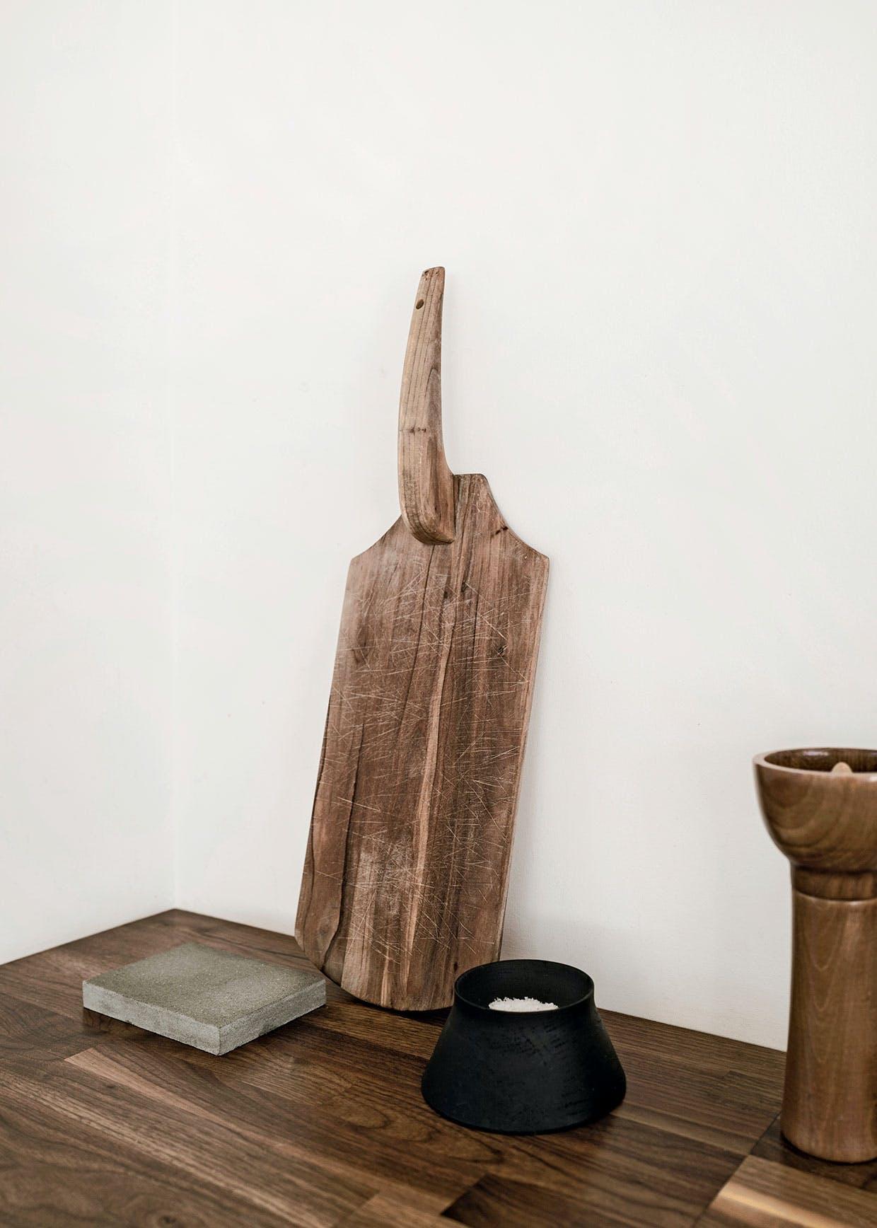 køkken skærebræt træ bordplade