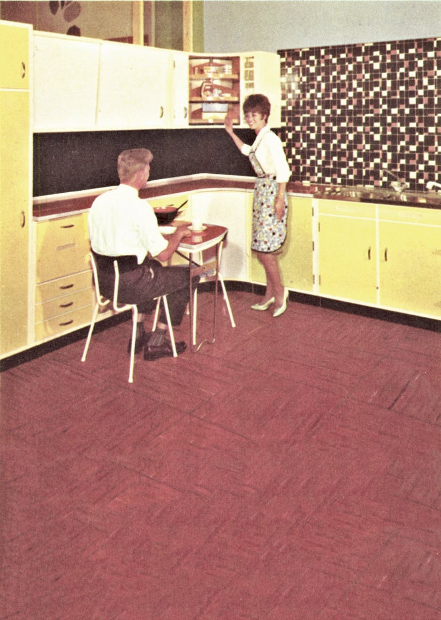køkken køkkenet historie udvikling 1950 50'erne