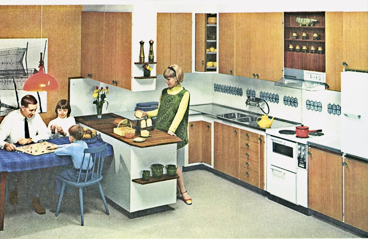 køkken køkkenet historie udvikling 1960 60'erne
