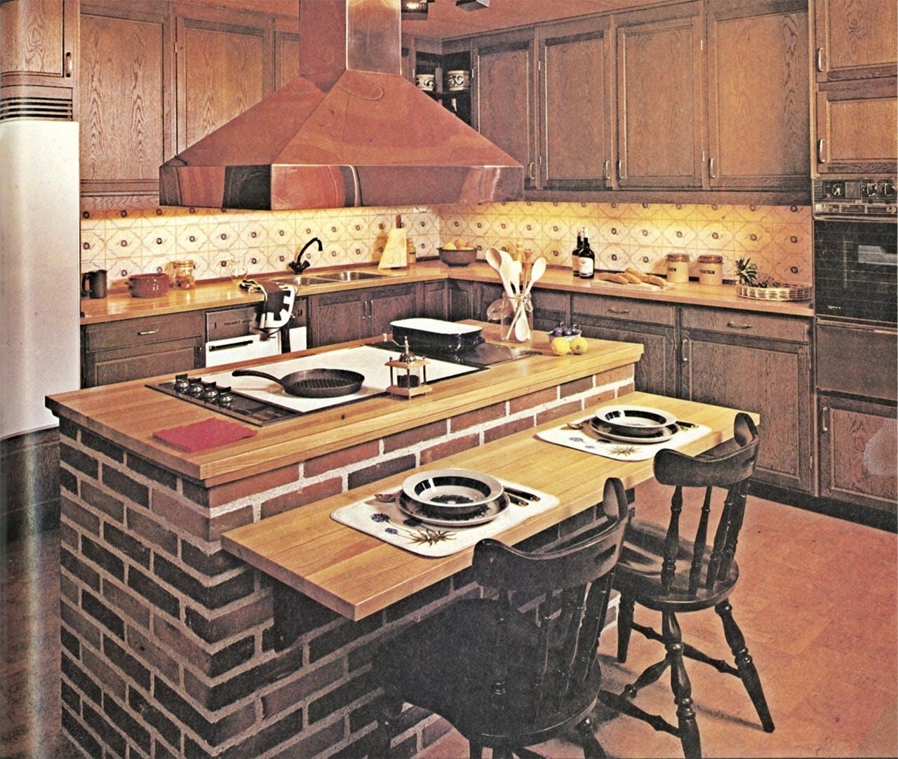 køkken køkkenet historie udvikling 1970 70'erne