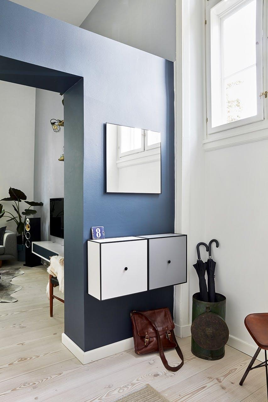 køkken bolig christianshavn indretning entre farver blå