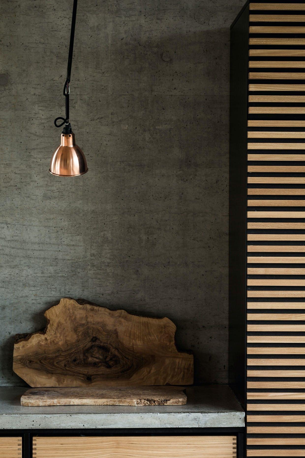 køkken beton skærebæt lampe kobber Lampe Gras