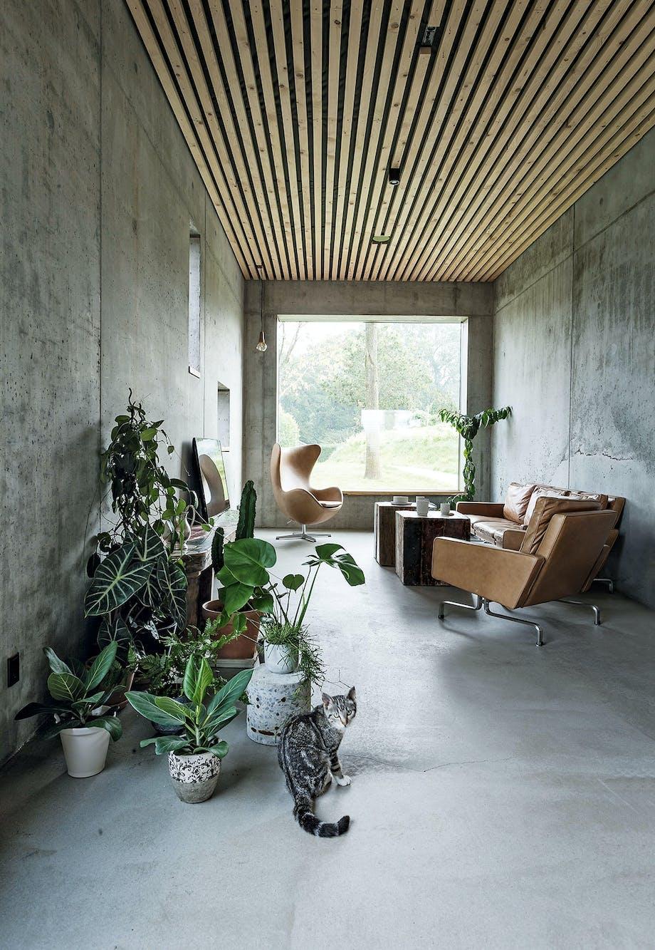 stue beton planter ægget pk31 sofa lænestol