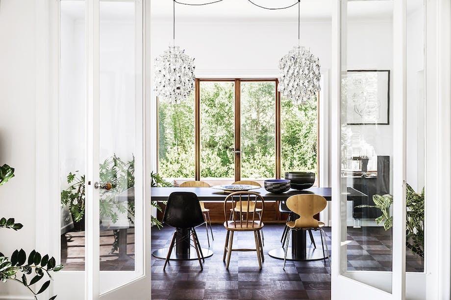 bolig indretning klampenborg villa bungalow stue spisestue