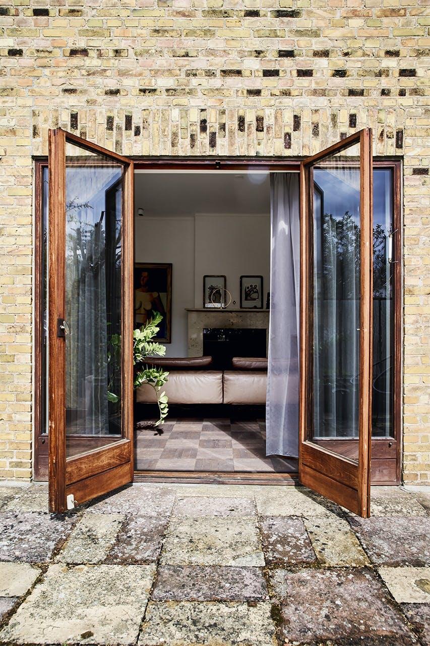 bolig indretning klampenborg villa bungalow terrasse døre