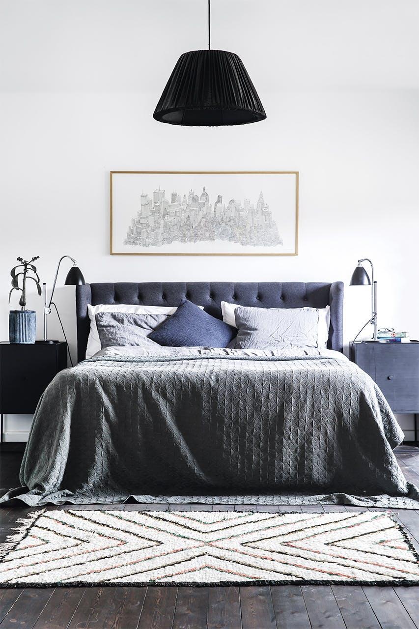 bolig indretning klampenborg villa bungalow  soveværelse seng