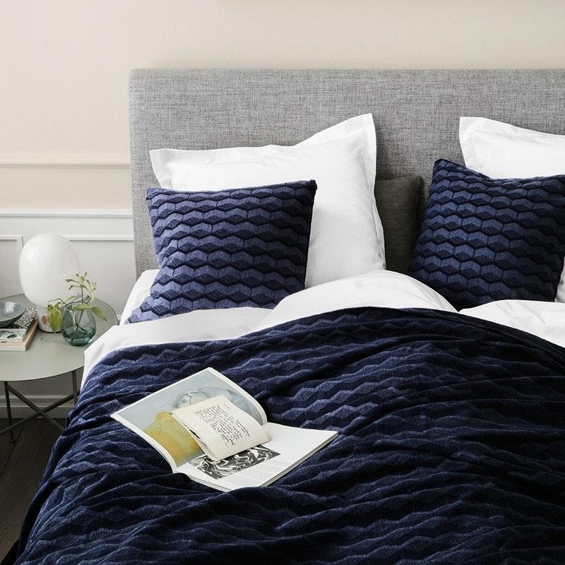 sengetæppe strik