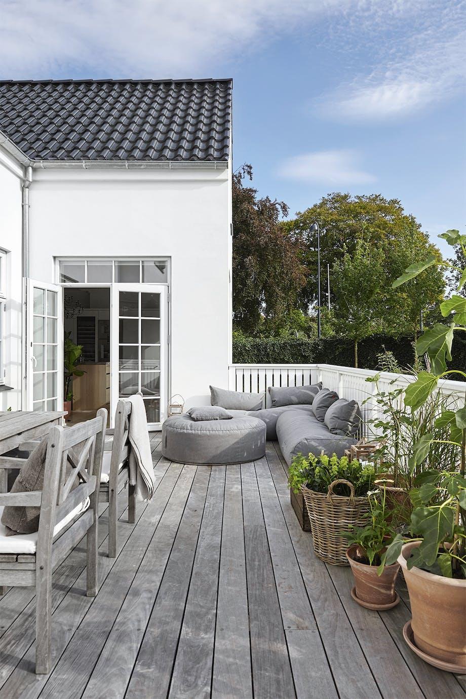 villa hellerup indretning terresse lounge møbler have