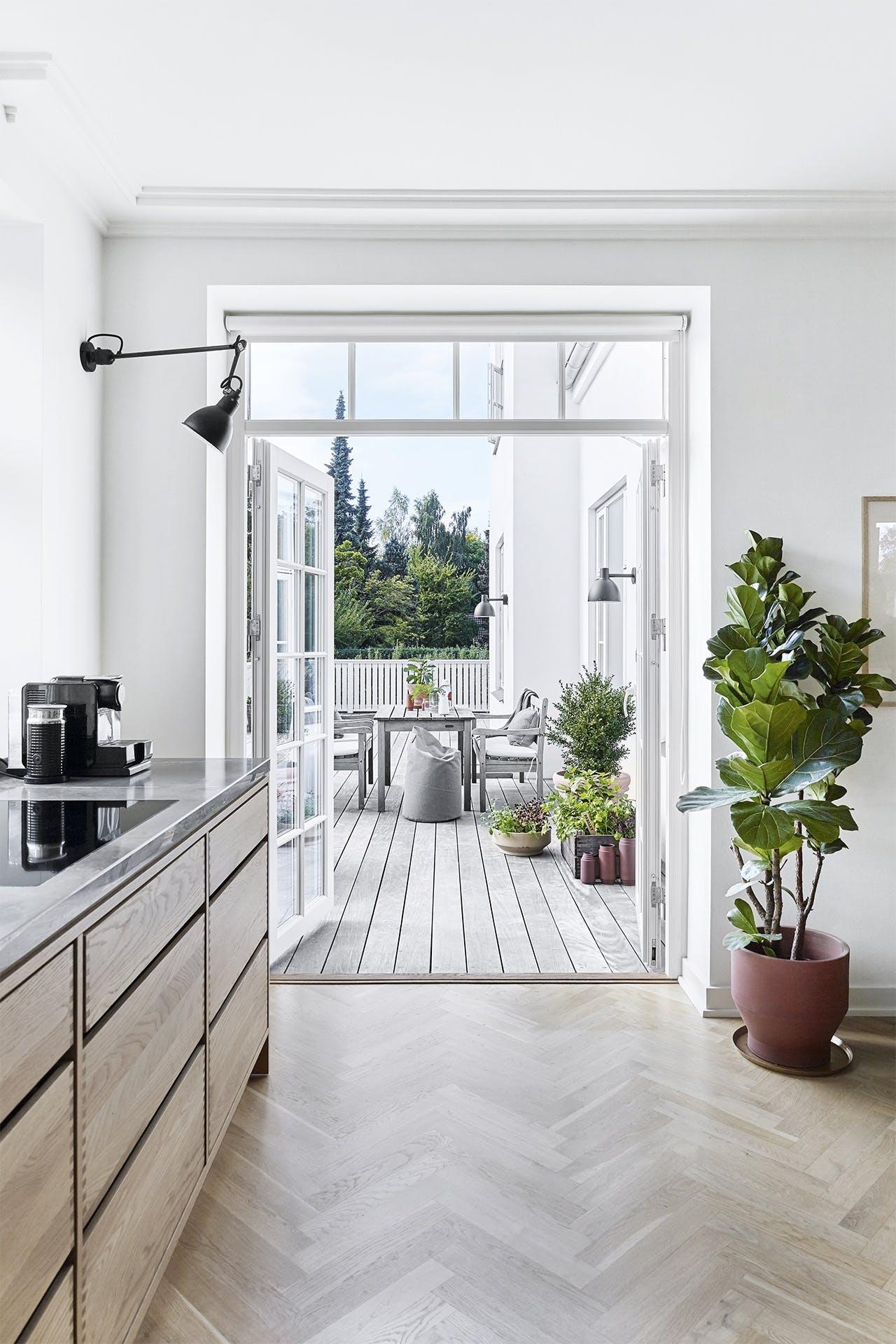 villa hellerup indretning køkken terresse