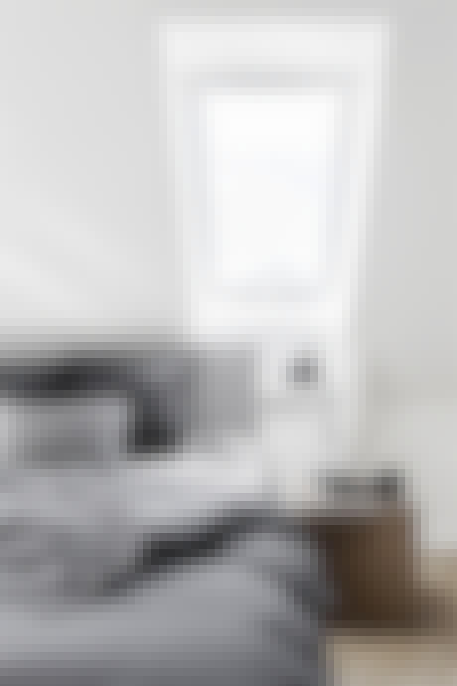 villa hellerup indretning soveværelse seng ovenlys