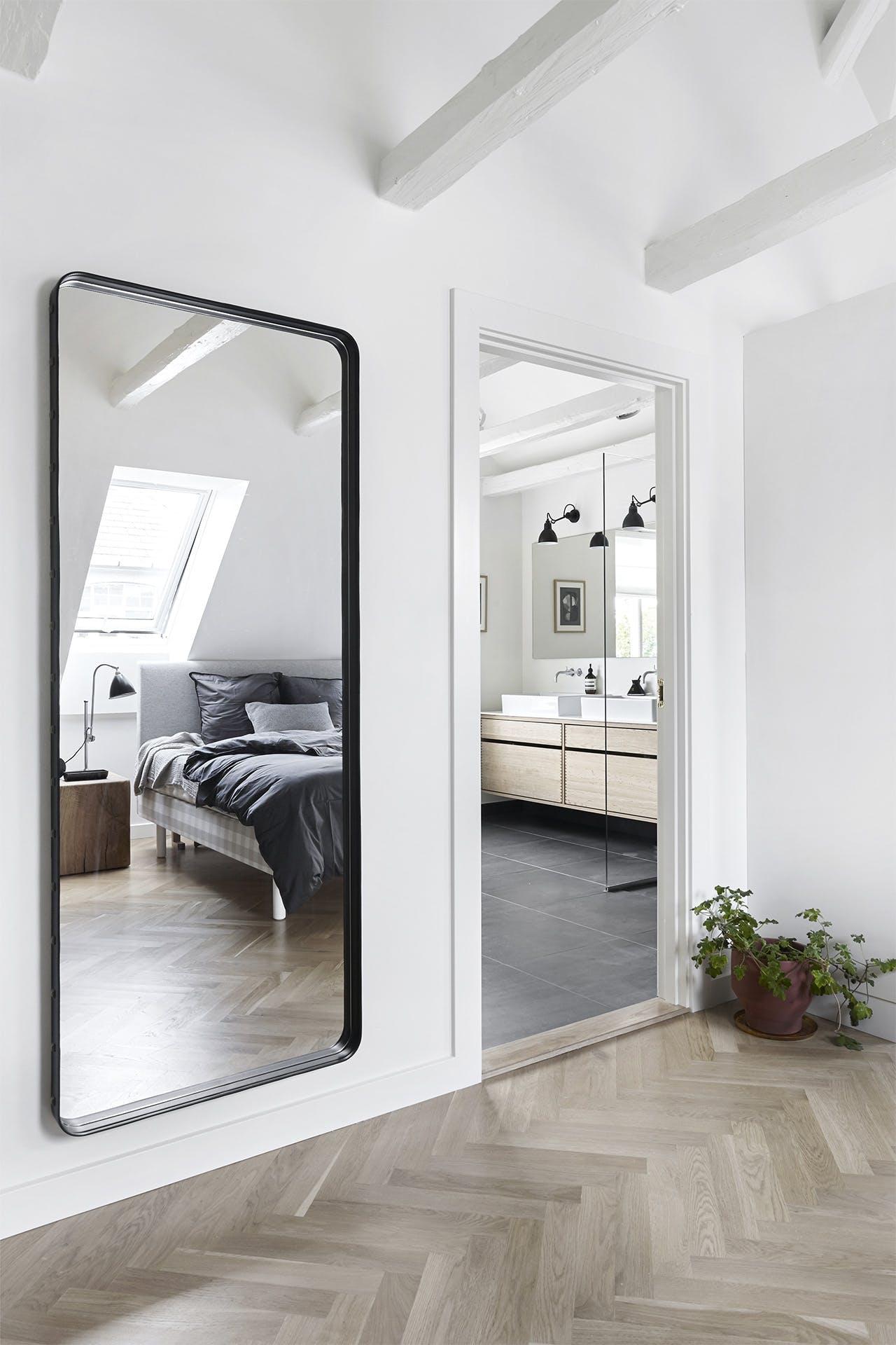 villa hellerup indretning spejl