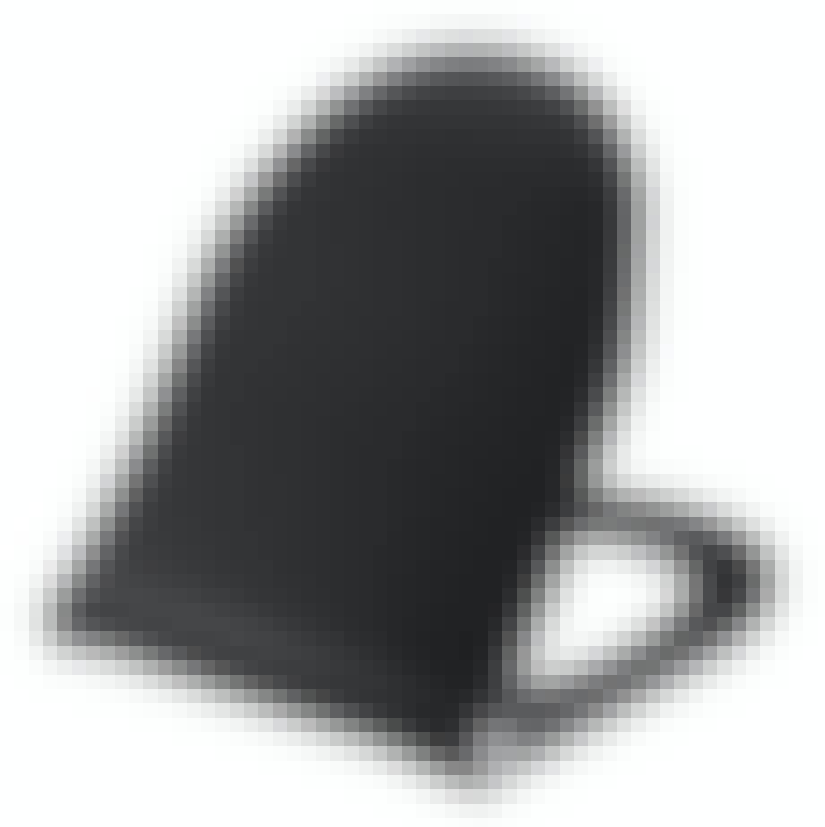 sort toiletbræt fra Pressalit
