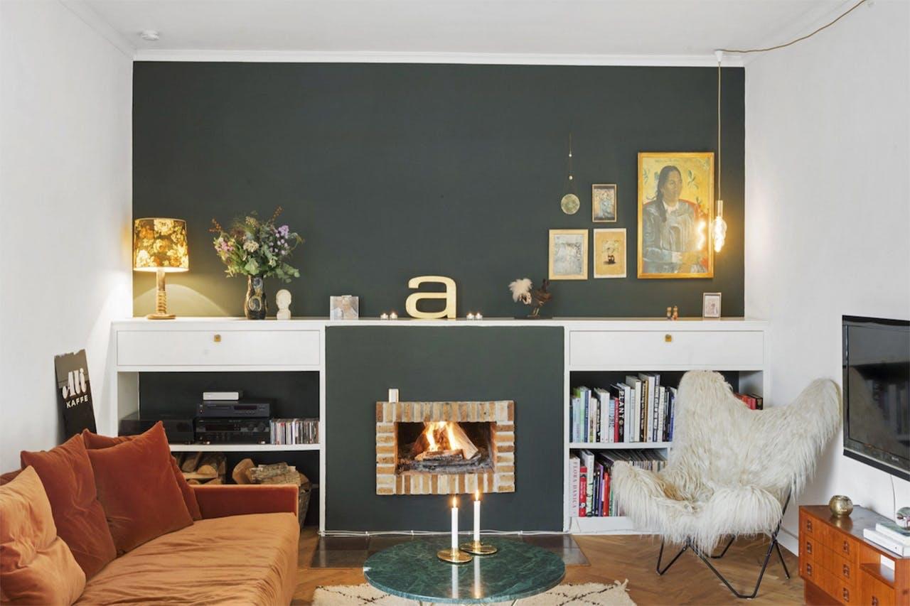 stue indretning aarstiderne kamin åbent ildsted pejs