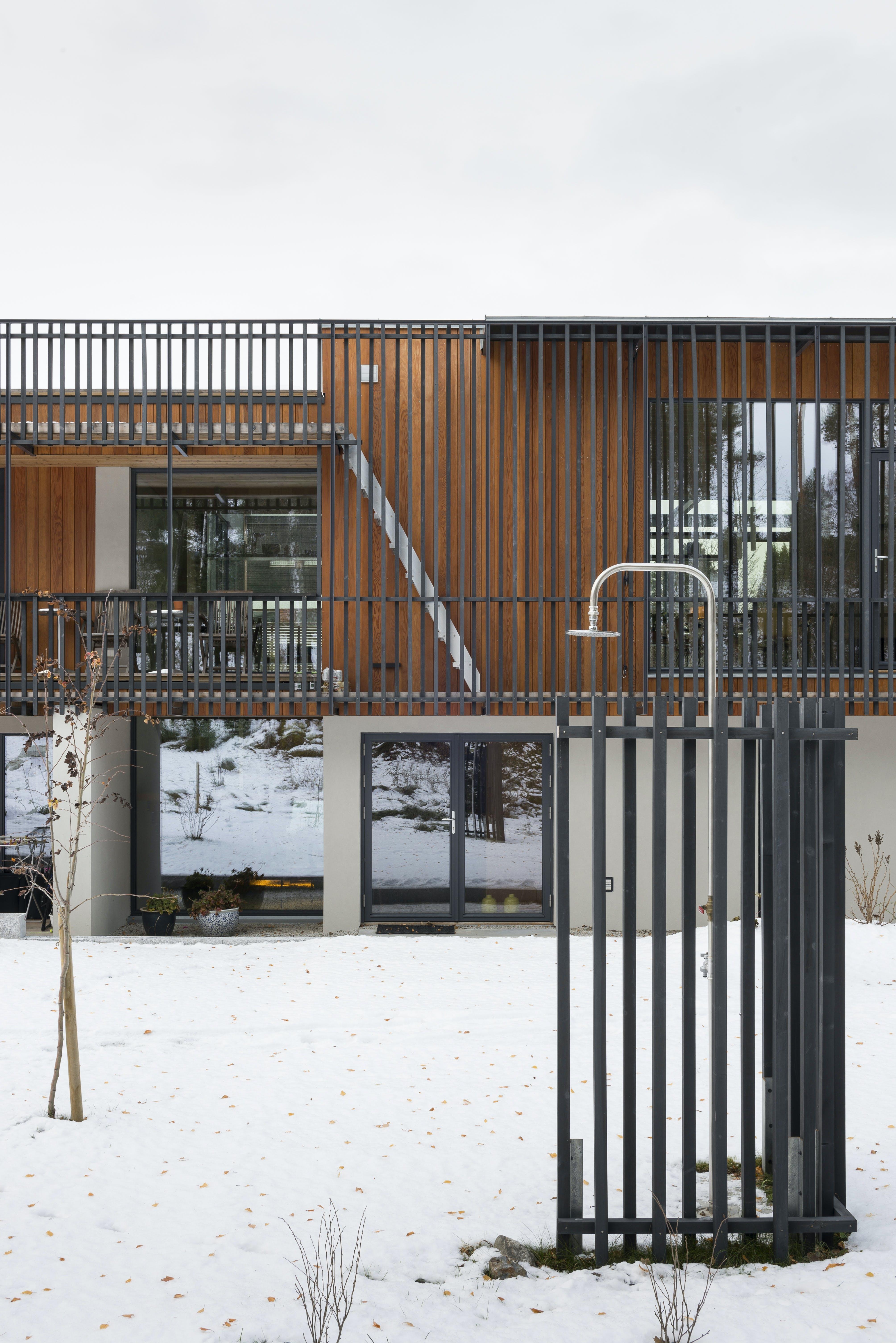 udendørsbad sne hus norge