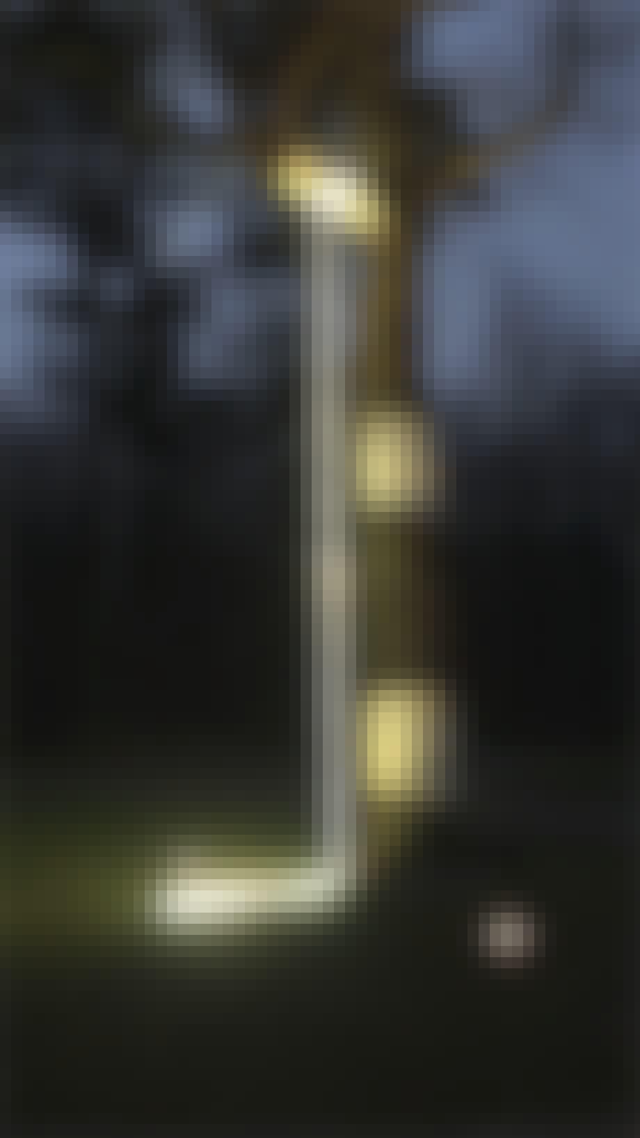 lyskunst på galleri DGV i svendborg træ