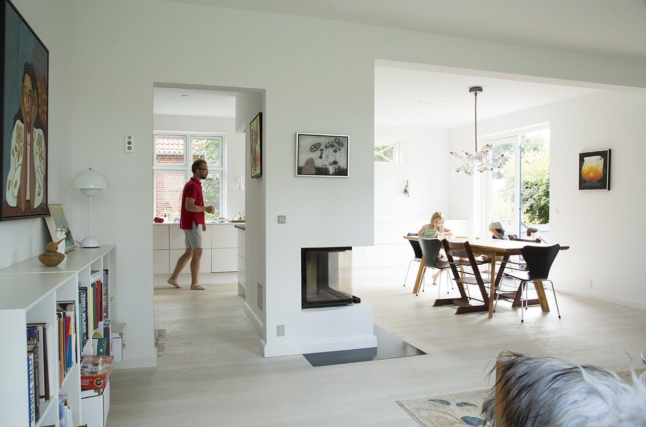 murermestervilla med flot ombygget stue villa
