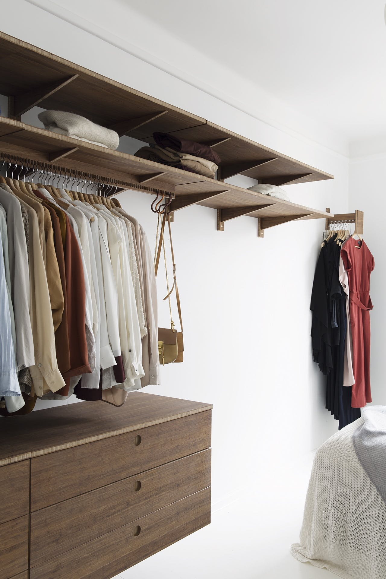 garderobe indretning bambus garderobe stativ