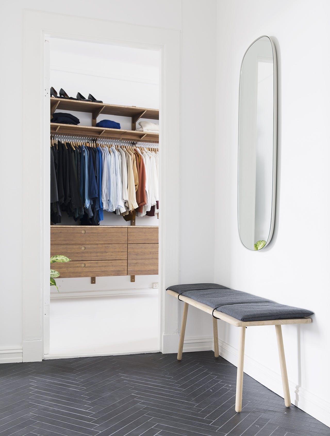 garderobe indretning skagerak bænk spejl