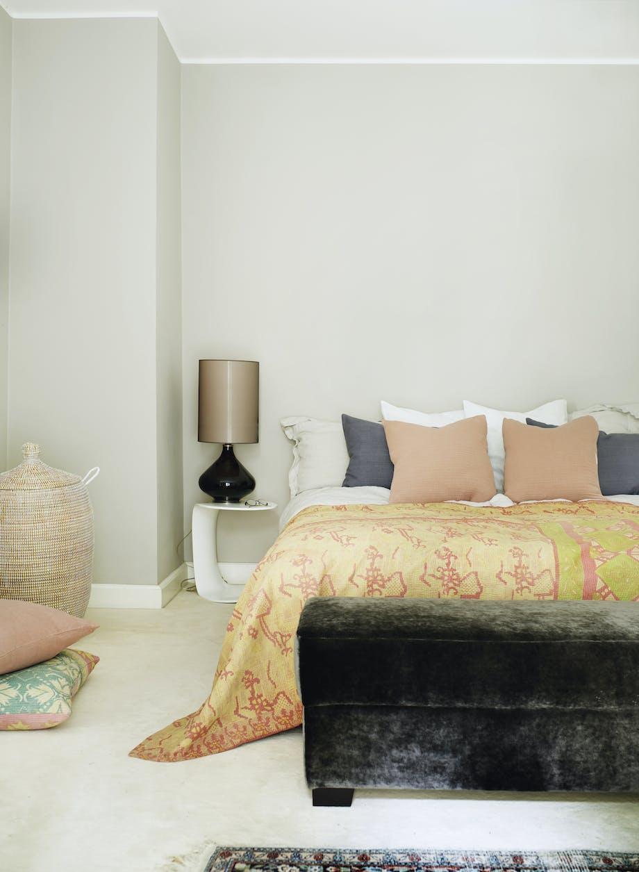 soveværelse natbord sengebord sengetøj
