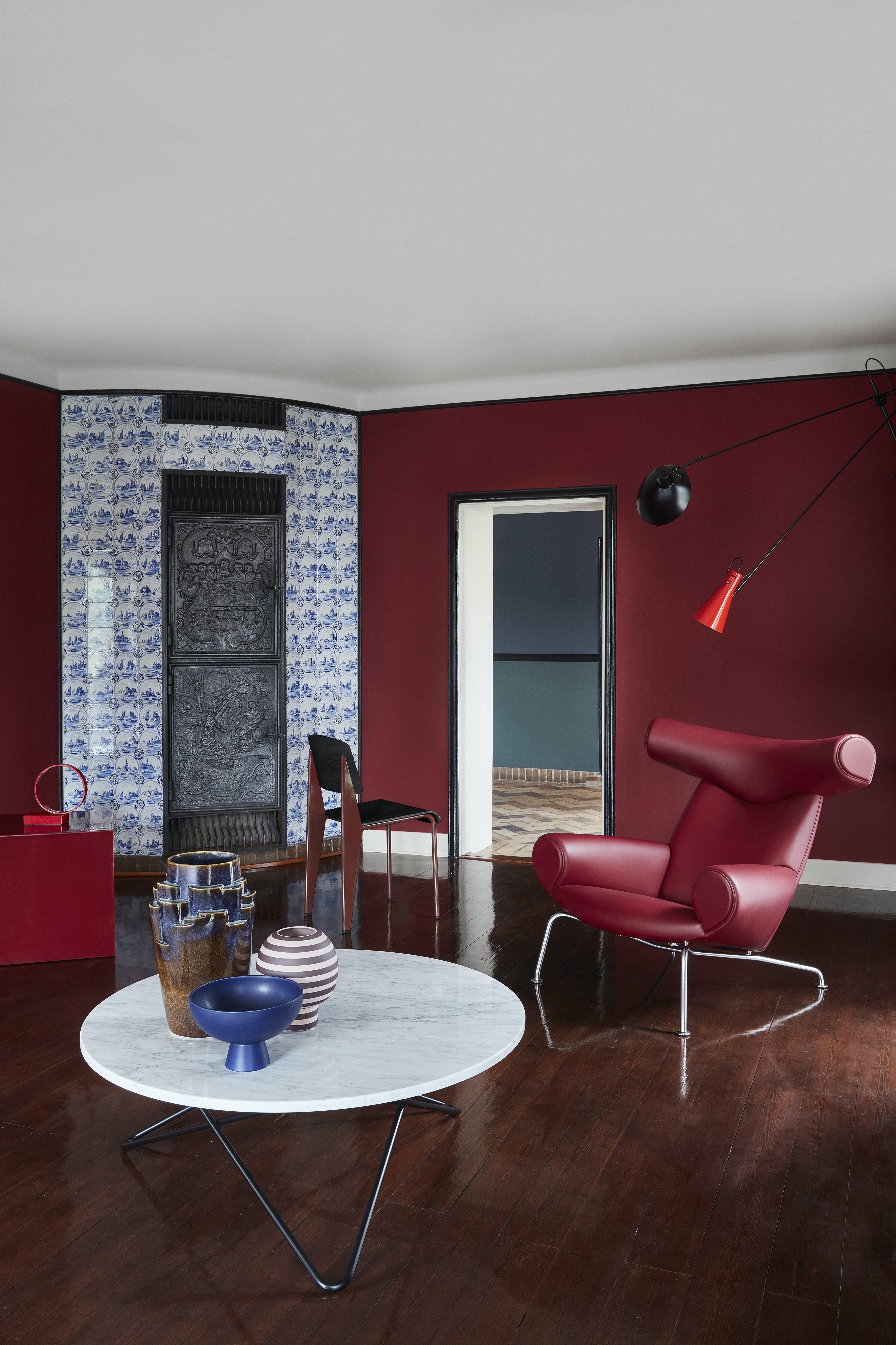 kay fisker hus styling bo bedre sofabord stol vase keramikskål bordlampe