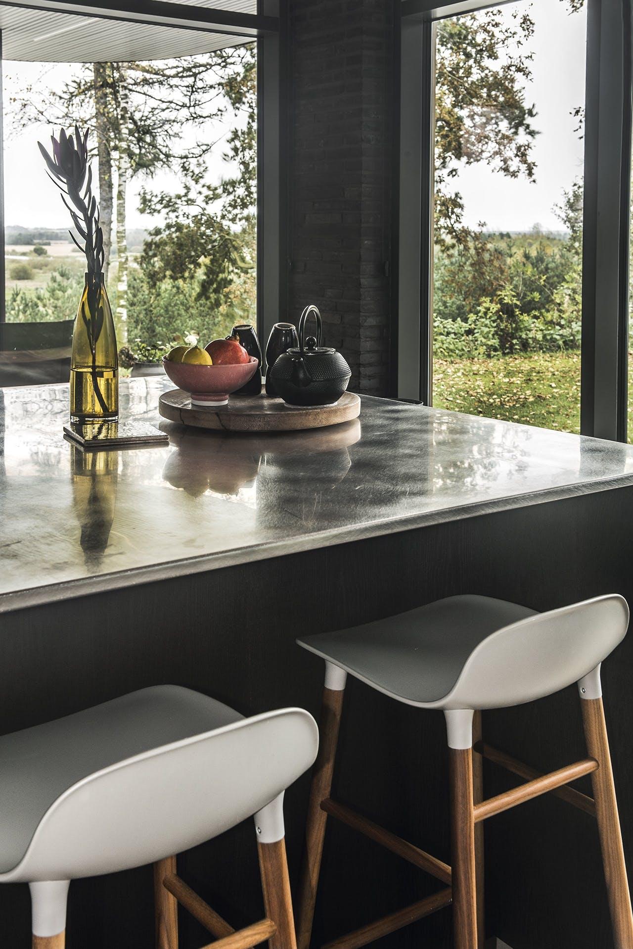 bolig boliger indretning arkitekttegnet huse køkken kogeø køkkenø