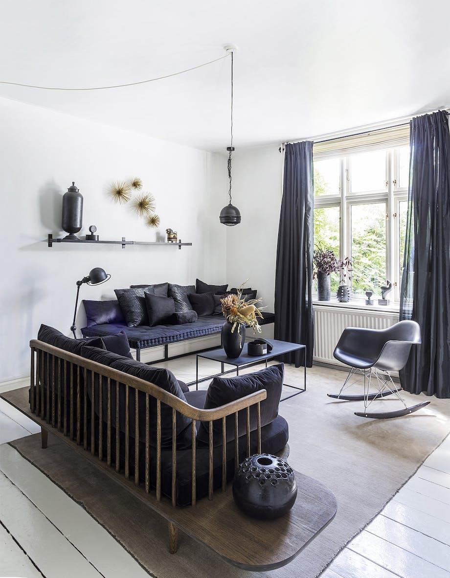 lejlighed villa indretning amager stue sofa