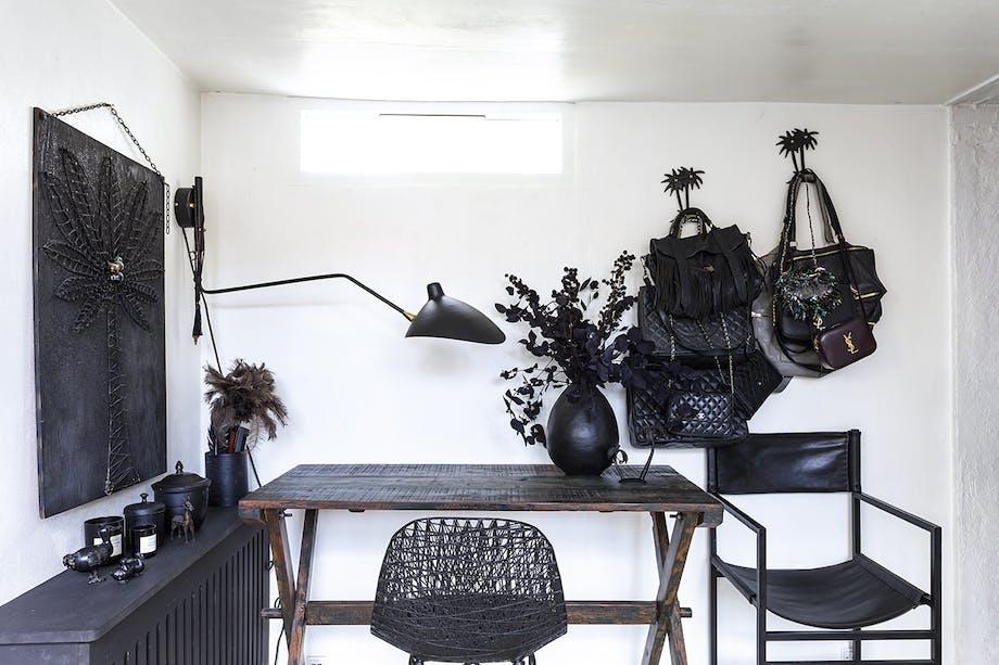 lejlighed villa indretning amager kontor sort