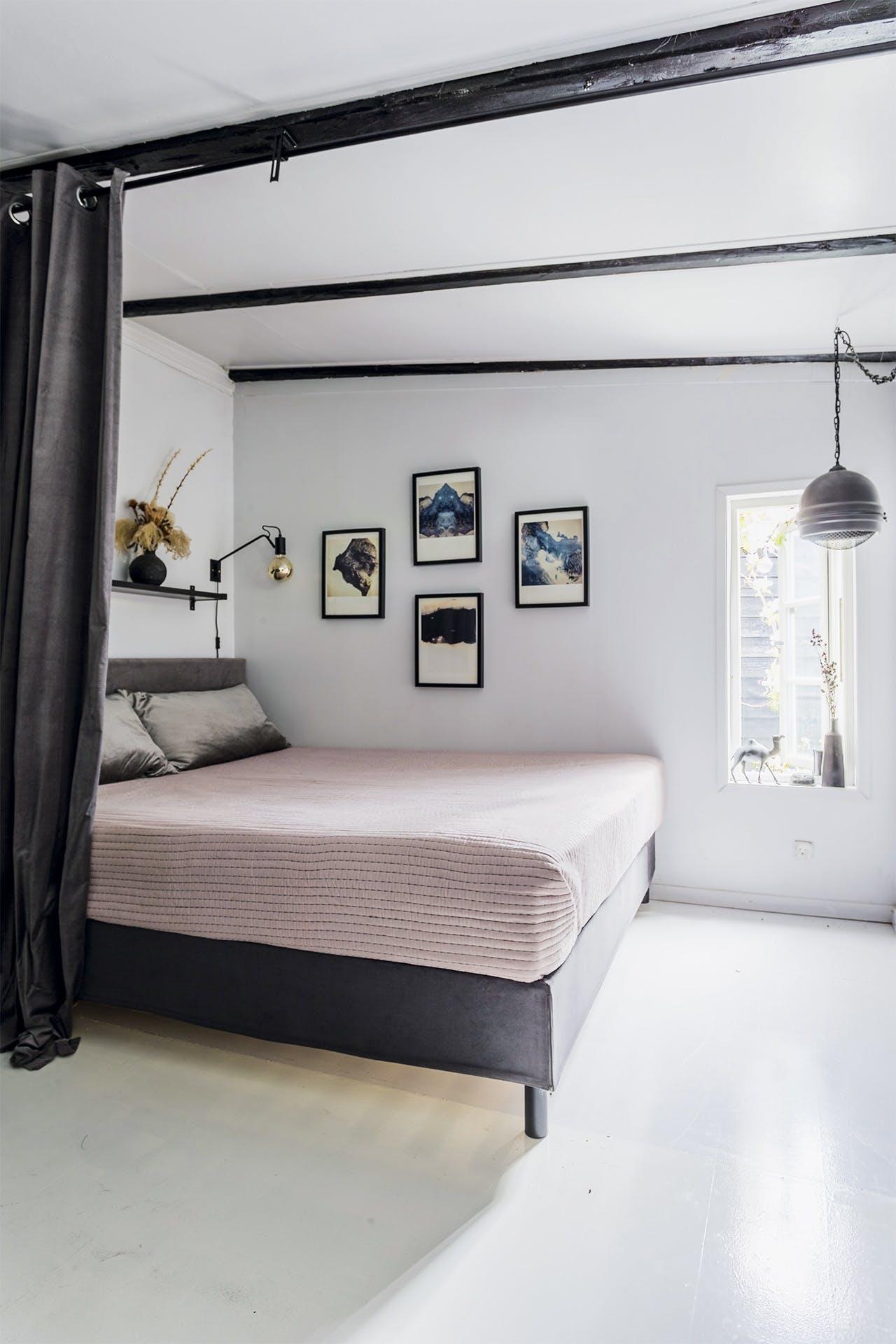 lejlighed villa indretning amager soveværelse seng