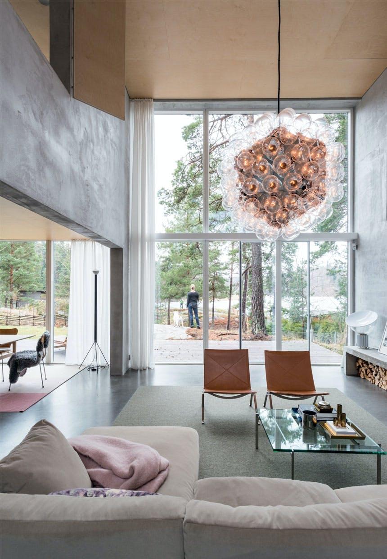 bolig indretning sverige natur glas