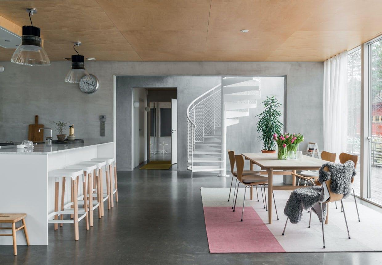 bolig indretning sverige natur stue spisebord spisestue