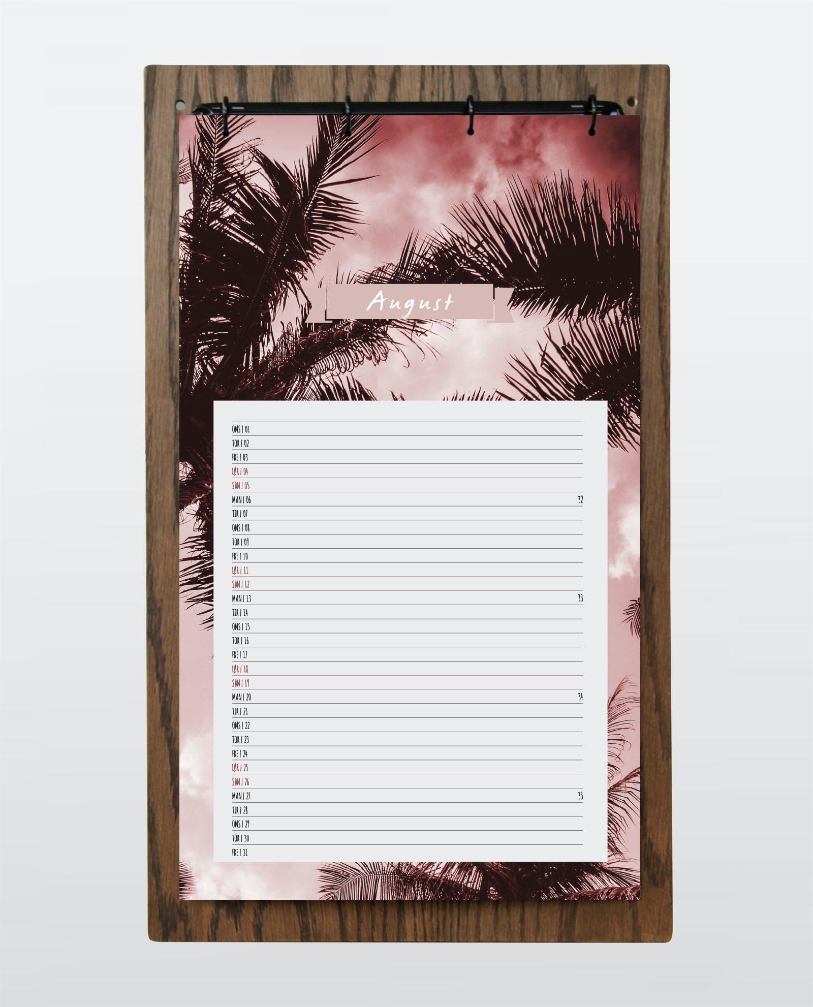 kalender vægkalender 2018 houselab