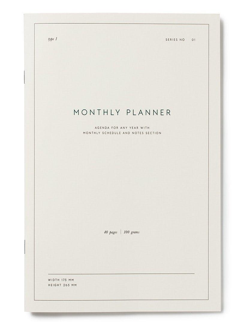 Kartotek Copenhagen monthly planner månedskalender