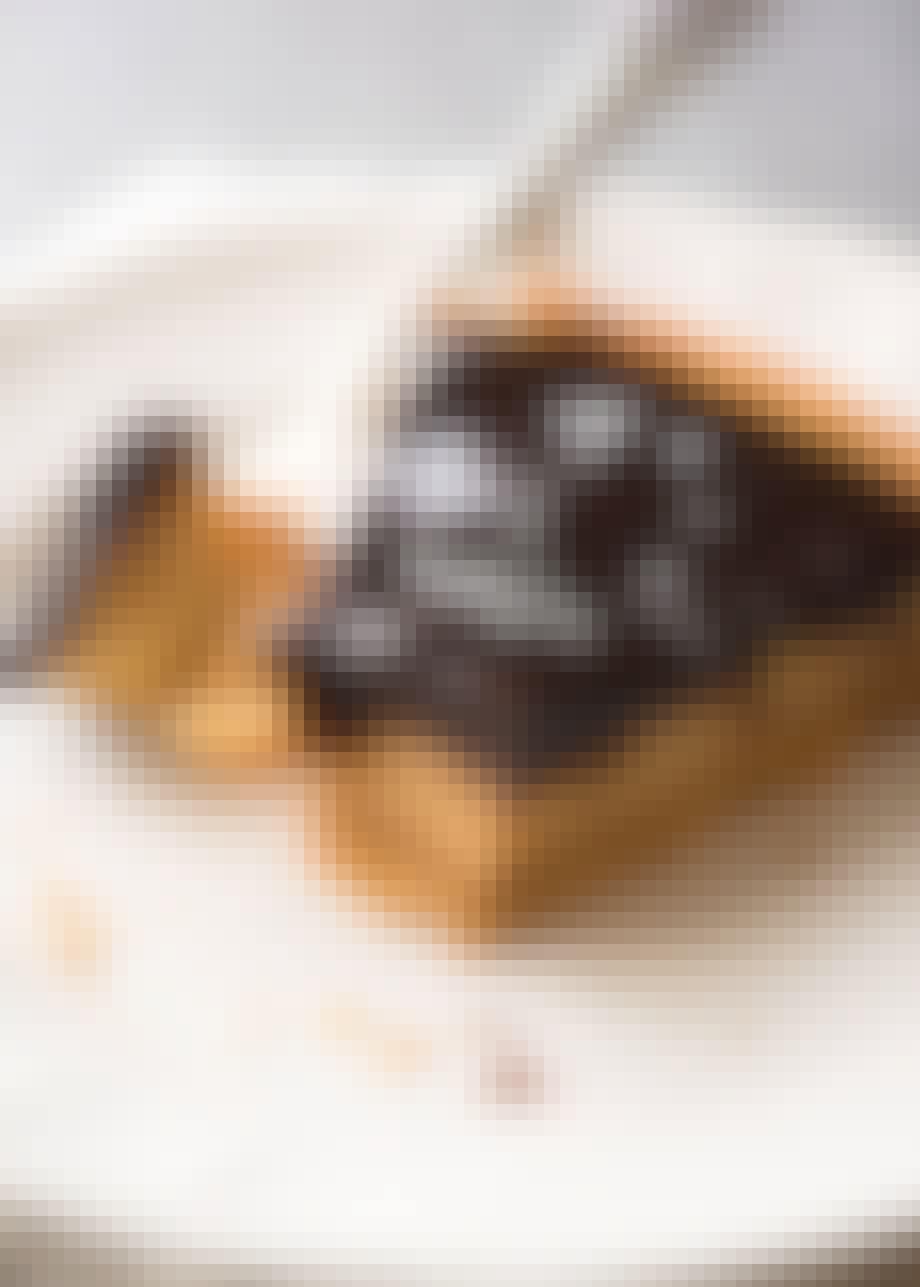 Nr. 1 –Tærte med saltkaramel og chokolade ganache
