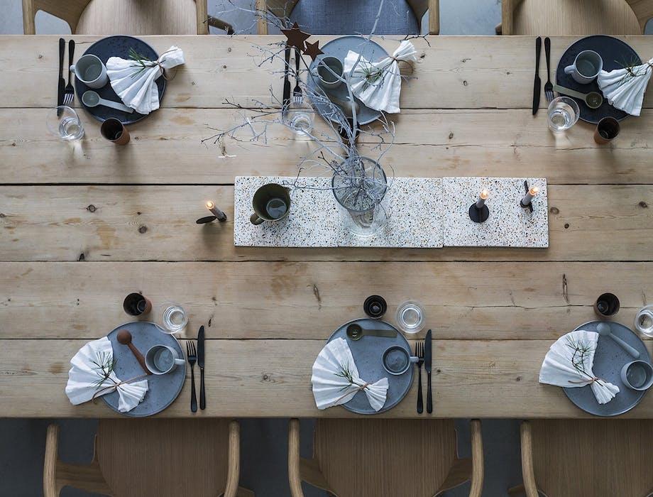 jul bolig bobedre moderne jul hygge indretning spisebord bordopdækning