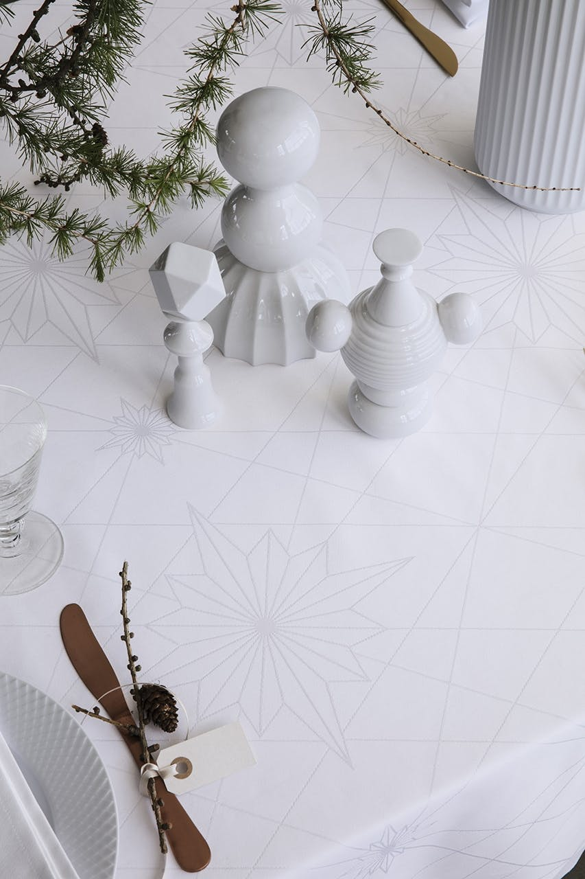 juledug dug georg jensen dansk design rød hvid stjerne