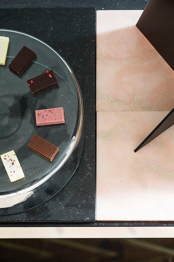 chokolader fra summerbird på stort fad
